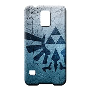samsung galaxy s5 case Covers colorful phone carrying cases metal textures triforce zelda logos
