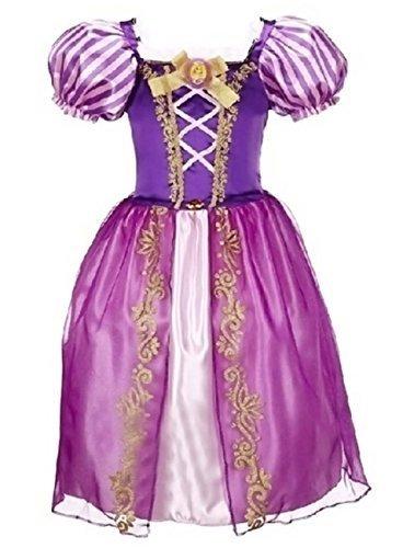 3a507e8d2c2ec Vogue(ボーグ) ラプンツェル コスプレ ドレス ワンピース ハロウィン 衣装 子供 仮装 女の子 女王 姫 コスチューム