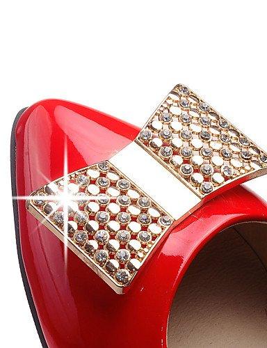 ZQ und Schuhe mujer-tac ¨ ® n robusto-tacones/puntiagudos-tacones-oficina und ZQ Arbeit/casual-cuero patentado-negro/rot/weiß  - 0a652e