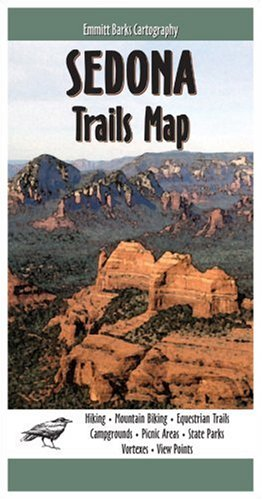 Sedona Trails Map - a guide to mountain biking trails, campgrounds, picnic areas, State Parks, Vortexes, View Points, Equestrian Trails, and more.