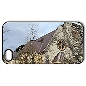 lintao diy ALL SAINTS CHURCH - Case Cover for iPhone 4 and 4s (Religious Series, Watercolor style, Black)