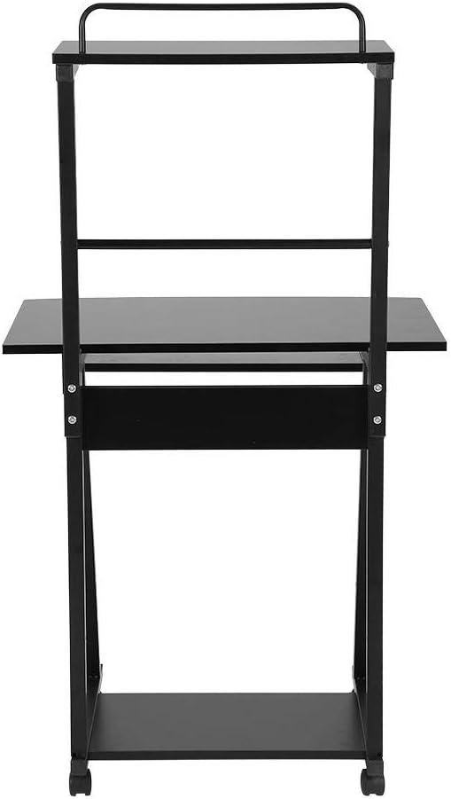 Port/átil Mesa Escritorio Ordenador Mueble Ruedas para Doble Capa estaci/ón Trabajo Base Zerone Escritorio para Ordenador compacta Mobile