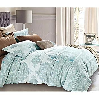 bohemian paisley duvet quilt cover light purple boho chic 100percent cotton bedding set oriental