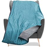 Quility Weighted Blanket for Kids and Toddlers with Soft Cover - 7 lbs Single Size, Heavy, Machine Washable, Heating & Coolin
