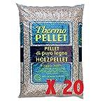 VIALCA-20-Sacchi-Pellet-FAGGIO-100-N20X15KG-Totale-300KG-Ideale-per-STUFE-E-CALDAIE-Certificato-A2