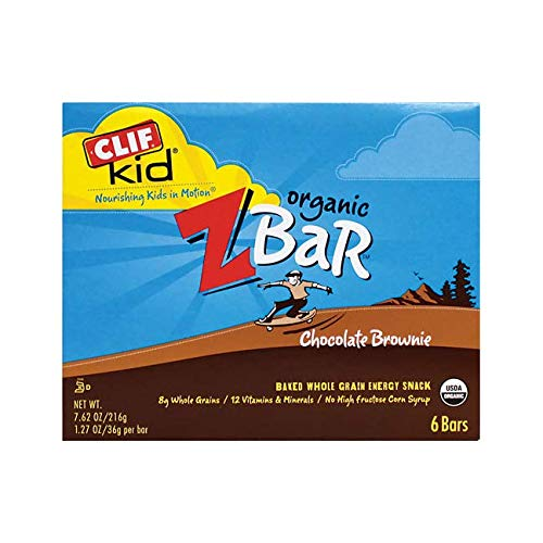 - Clif Bar Kid Z-Bar Organic, Chocolate Brownie 6 bars 7.62 oz/216g, 1.27 oz/36g per bar