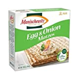 MANISCHEWITZ Egg & Onion Matzo, 10-Ounce Boxes (Pack of 8)
