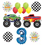 Monster Truck Party Supplies 3rd Birthday Balloon Bouquet Decorations