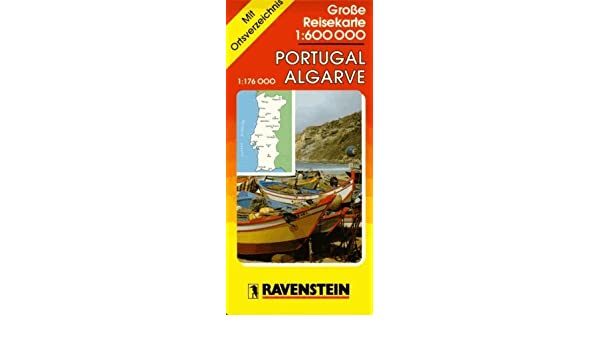 Portugal Road Map With Separate Index Ravenstein - Portugal road map algarve