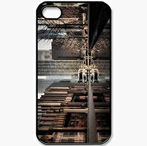 Protective Case Back Cover For iPhone 4 4S Case Chicago Illinois Black