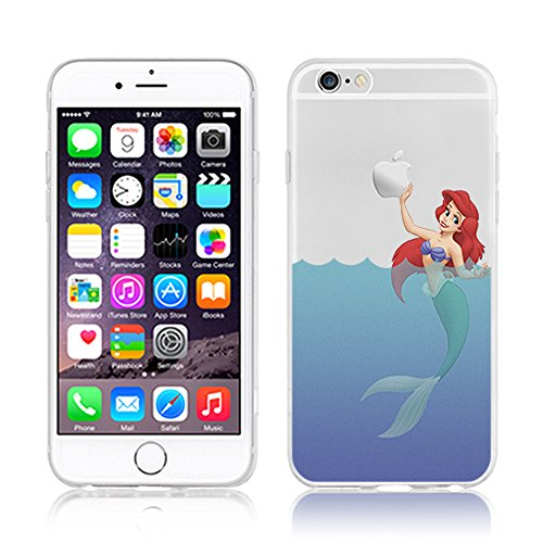 NEW DISNEY PRINCESSES TRANSPARENT CLEAR TPU SOFT CASE FOR APPLE IPHONE 7 PLUS - AREIL 5