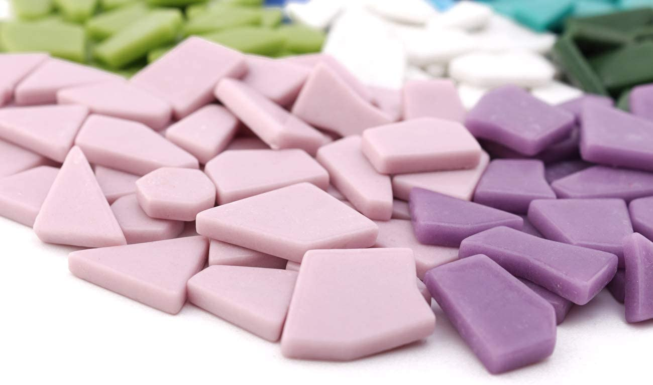 E-Home Shop 568g Mosaic DIY,Mosaic Kits,Mosaic Home and Garden Decoration Mix Broken Shapes Stained Color Mosaic 20 oz Mosaic Tiles for Crafts