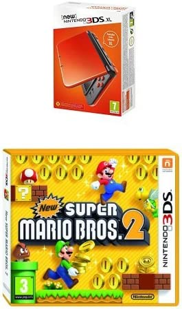 New Nintendo 3DS XL Color Naranja + New Super Mario Bros 2: Amazon ...