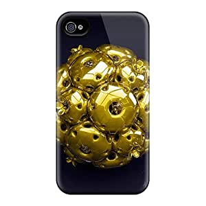 Apple Iphone 4/4s FZX16020tAJI Allow Personal Design Nice Golden Ball Pictures Anti-Scratch Cell-phone Hard Covers -JohnPrimeauMaurice