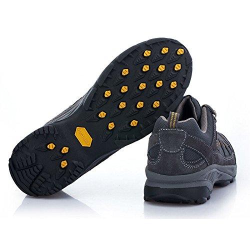 De Eerste Outdoor Heren Wandelschoenen Anti-slip Rubber Lace Up Trekking Sneakers Sport Donkergrijs