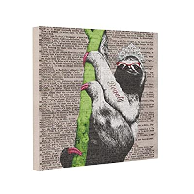 Vlacom Canvas Picture Frames Image Canvas Sloth Beauty Queen - 6235897134697
