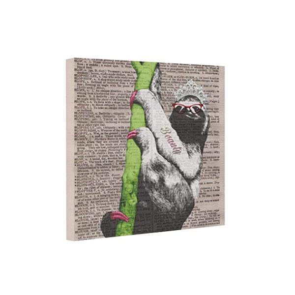 Vlacom Canvas Picture Frames Image Canvas Sloth Beauty Queen -