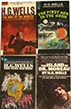 4 Novels By H.G. Wells: The War of the Worlds / The First Men in the Moon / The Time Machine / The Island of Dr. Moreau