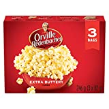 Orville Redenbacher Popcorn - Microwave Extra Buttery (3 packs x 12 - 36 bags total)