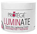 Bleaching Genital Skin - LUMINATE Skin Lightening Cream - Natural Skin Lightener Reduces Dark Spots and Age Spots + Uneven Skin Tone + Hyperpigmentation with Arbutin + Kojic Acid + Niacinamide (2oz)