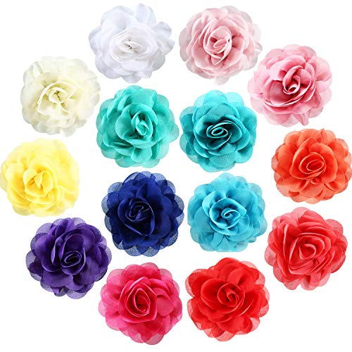 Leinuosen 14 Pieces Dog Collar Flowers Pet Bow Tie Flower Collars for Puppy Collar Grooming Accessories (5 cm, 14 Pieces) (Collar Dog Pieces)