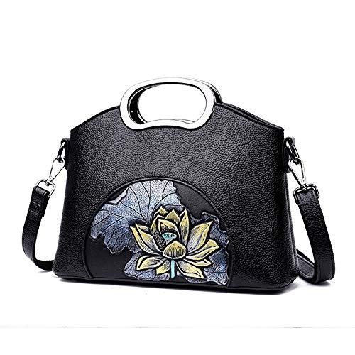 Ladies Limotai Pu Da Handbag Borsa B Borsetta Fiore Messenger Borse Ricamo Bag A Tracolla Donna wZIxvZrq