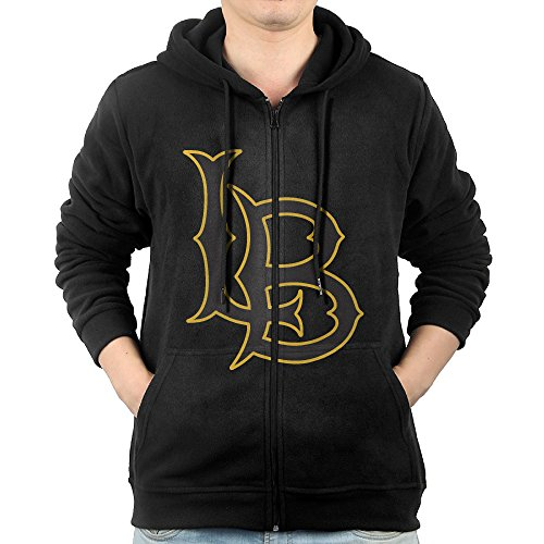 GGDDAA Mens California University Long Beach Mountain Climbing Casual Style Hoodie Hooded Sweatshirt Casual Style M Black