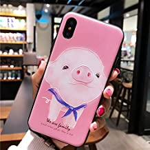 BONTOUJOUR iPhone 7 Plus case iPhone 8 Plus Cover Case Super Cute Cartoon Animal Pattern Soft TPU Bumper Hard PC Back Cover for Girls 360 Degree Protection (Pink Pig, iPhone 7plus /8plus)