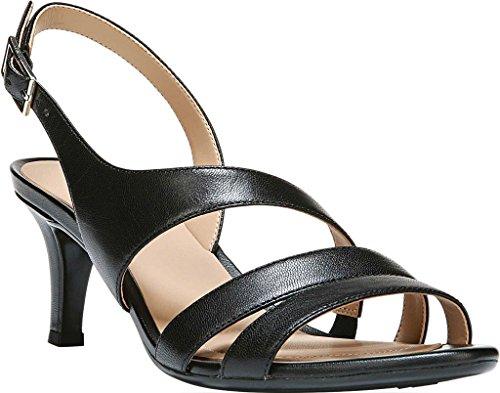 Naturalizer Women's Taimi Sandal,Black Leather,US 5 M E0497L1-001
