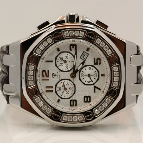 Aqua Master Royal Oak Mens Diamond Watch 1.50ctw W3256 by Aqua Master