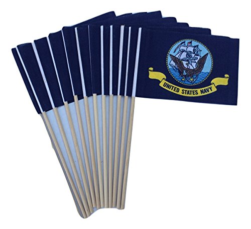 Lot of -12- 4x6 Inch US Navy Desk Hand Held Stick Flags