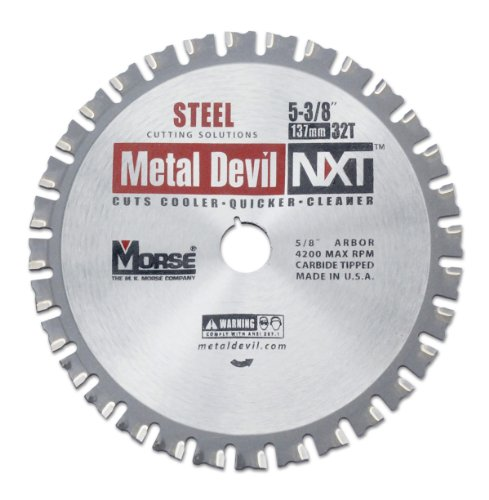 MK Morse CSM5383258NSC Metal Devil NXT Circular Saw Blade, 5-3/8-Inch Diameter, 32 Teeth, 5/8-Inch Arbor, for Steel (Metal Devil Saw Blade)