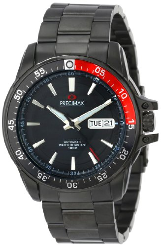 Precimax Men's PX13200 Propel Automatic Black Dial Silver Stainless-Steel Band Watch