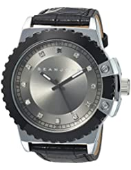 Sean John Mens Diamond Quartz Metal Casual Watch, Color:Black (Model: 10030885)