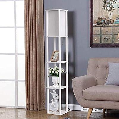 Bathroom Hardware Led Shelf Floor Lamp Modern Standing Light Display Shelves For Living Rooms Bedrooms