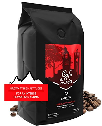 Café de Loja 100% Organic Arabica Gastronome Whole Bean Coffee (2 Lbs Bag)- Medium/Dark Roast Specialty Coffee Single Origin - Strict High Altitude Harshly Bean GMO Free - Best High Mountain Coffee Beans
