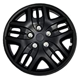 hubcaps nissan altima 2010 - TuningPros WSC-025B16 Hubcaps Wheel Skin Cover 16-Inches Matte Black Set of 4