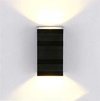 Lámpara de pared 6W exterior pared lámpara casa comercial Villa jardín led pared luz exterior resistente al agua led arriba y abajo de luz tamaño: 8. 5 * 16 * 5. 5cm: Amazon.es: Iluminación