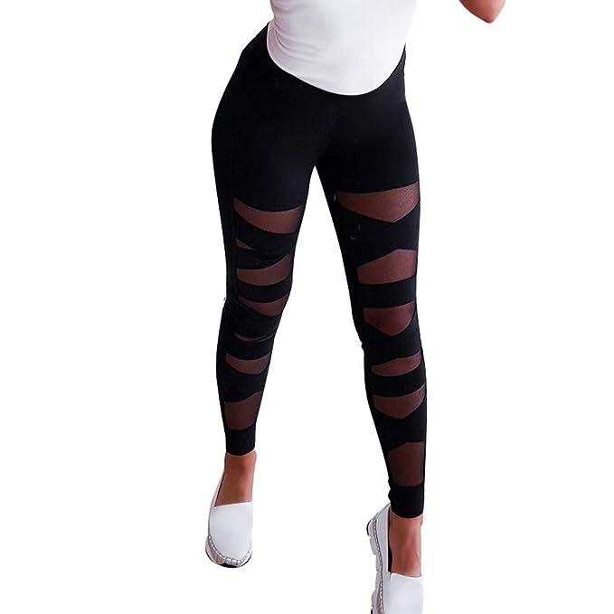 Lunule Pantalones Deportivos de Yoga Mujer de Cintura Alta ...