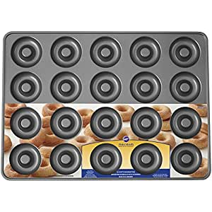 Wilton Industries Perfect Results 20-Cavity Mega Donut Pan, No Color