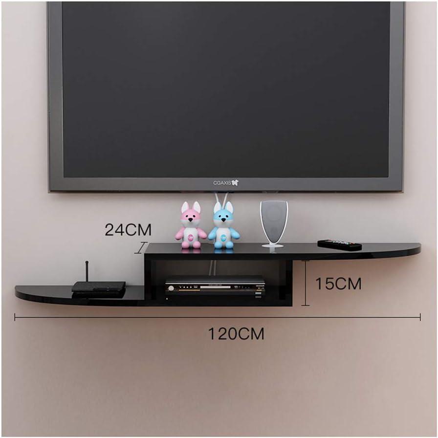 Pequeño bastidor flotante para TV Soporte para TV estante para TV montado en la pared decodificador de TV consola de oficina bastidor flotante consola de TV Reproductor de DVD gabinete de dos