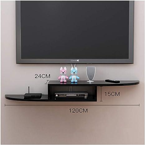 Pequeño bastidor flotante para TV Soporte para TV estante para TV montado en la pared decodificador