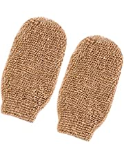 ULTNICE 2 Stuks Badhandschoenen Handschoen Scrubben en Body Scrubber Verwijderen Dode Huid Bad Body Scrub Mitt