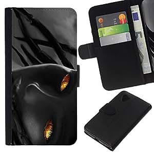 All Phone Most Case / Oferta Especial Cáscara Funda de cuero Monedero Cubierta de proteccion Caso / Wallet Case for LG Nexus 5 D820 D821 // Flame Girl