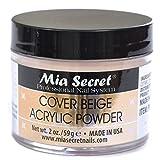 Mia Secret Cover Beige Acrylic Powder 2 Oz by Mia