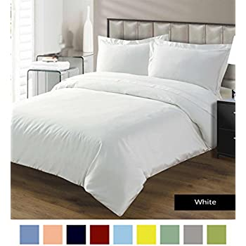 Premium Range Luxurious, Durable and Hypoallergenic Duvet Cover with Zipper Closure 100% Egyptian Cotton 600 Thread Count By Kotton Culture (King/ Cal King, Pearl White)