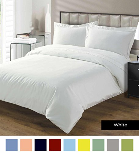 Premium Duvet Cover with Zipper Closer 100% Egyptian Cotton 600 Thread Count Luxurious, Durable and Hypoallergenic Ultra Soft Breathable By Kotton Culture ( California King/King, White ) (Night Light Rose Moss)