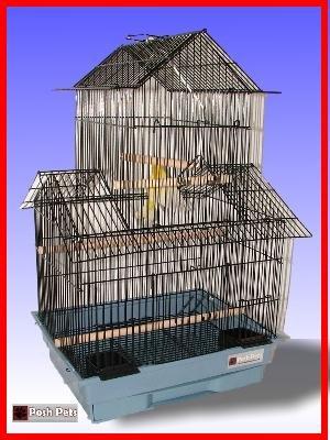 Gabbia per uccelli Pappagallini rosa Canary Finch gabbie incluso Swing