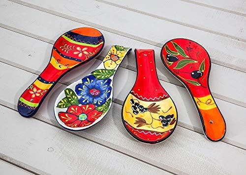 Divine Deli Hand Painted Spanish Spoon Rest