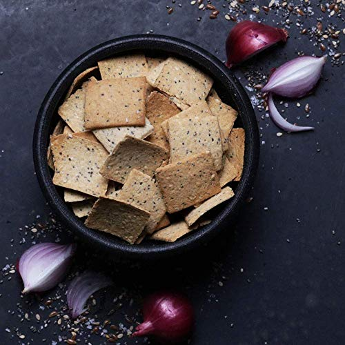 Hu Paleo Vegan Crackers, Everything 6 Pack, Keto Friendly, Gluten Free, Grain Free, Low Carb, No Added Oils, No Refined Starches